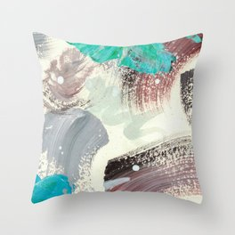 Snowy Walk in the Woods 07 Throw Pillow