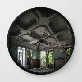 Abandoned manor Wall Clock
