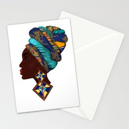 African woman,art. Stationery Cards