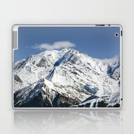 Mt. Blanc with clouds Laptop & iPad Skin