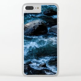 Like Stones Under Rushing Water Clear iPhone Case