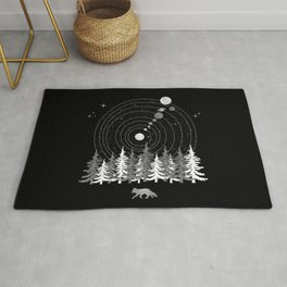Alone Time - Solar System Nature Fox Rug