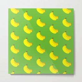 Banana Bunch Pattern (green) Metal Print
