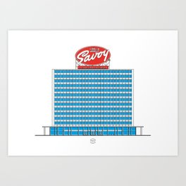 Edificio Pigalle Art Print