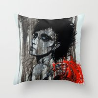 pain Throw Pillows featuring Pain by Clayton Young