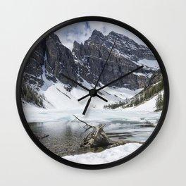 Icy Lake Wall Clock