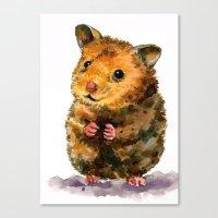 hamster Canvas Prints featuring Hamster I by Himeno Fujimiya