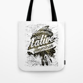 Native American Indian Chief Tote Bag