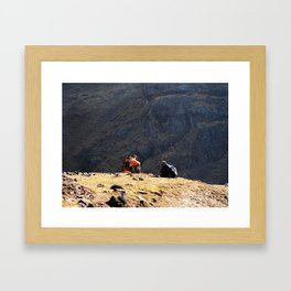 Short break, Huacahuasi pass, Peru Framed Art Print
