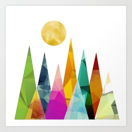Moon in the Forest Art Print
