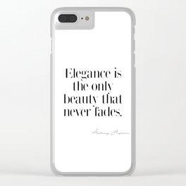 Elegance by Audrey Hepburn Clear iPhone Case