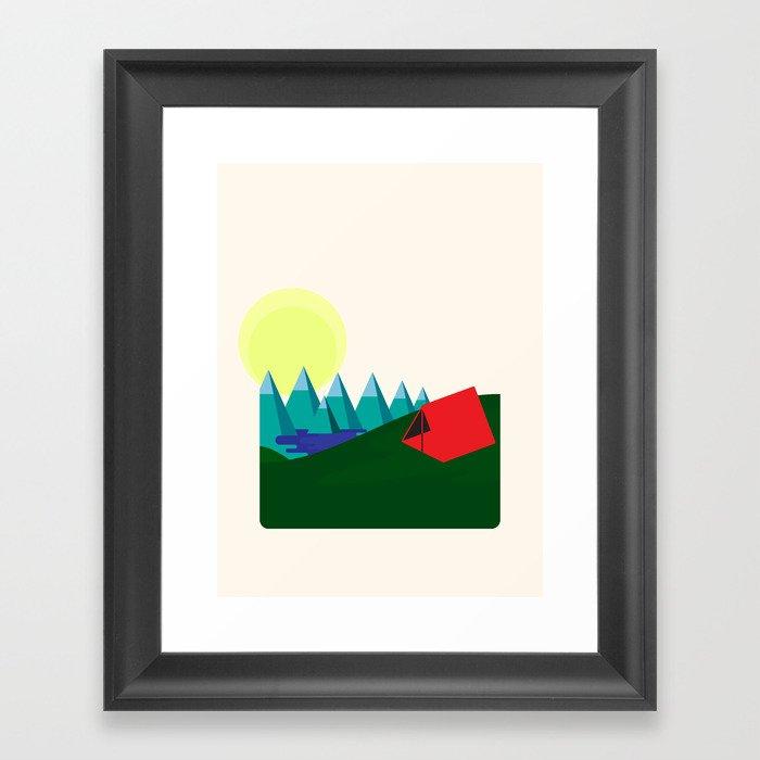 Camping is fun! Framed Art Print