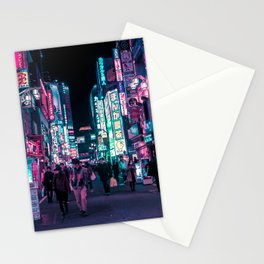 Heart Full Of Neon: Cyberpunk Overload Canvas Print Stationery Cards