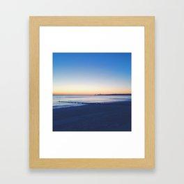 east coast morning Framed Art Print