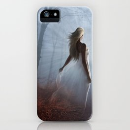 Lady In White iPhone Case
