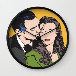 Rhett Butler and Scarlett O'Hara Wall Clock