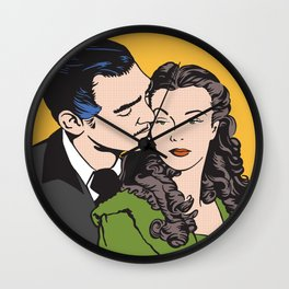 Rhett Butler and Scarlett O'Hara Wall Clock
