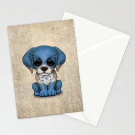 Cute Puppy Dog with flag of Honduras Stationery Cards