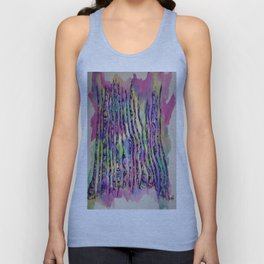 Colorful Rainbow Abstract Aspen Tree Colorado Painting Unisex Tank Top