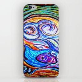 Sur ma boite en bois de pastels iPhone Skin