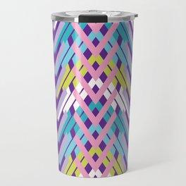 Woven Chevron Pattern Bright Interlocking Travel Mug