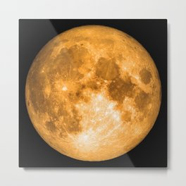 orange full moon Metal Print