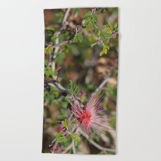 Desert Wildflower Bush Beach Towel