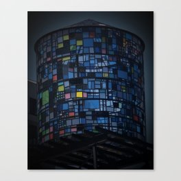Stained glass water tower Canvas Print