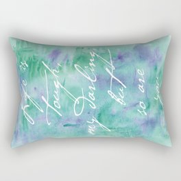 Life is Tough in Teal Rectangular Pillow
