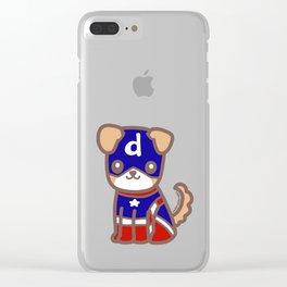 Captain Dodger Clear iPhone Case