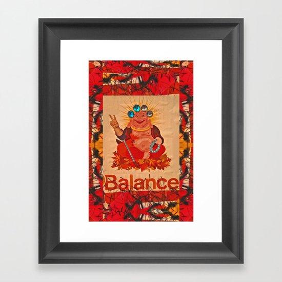 BALANCE! Framed Art Print