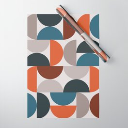 Mid Century Modern Geometric 25 Wrapping Paper