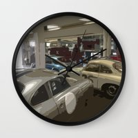 porsche Wall Clocks featuring Porsche Garage by Premium