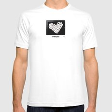 iTablet White Mens Fitted Tee MEDIUM