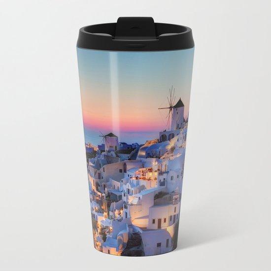 Santorin1 Metal Travel Mug