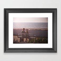 Love is enjoying summer Framed Art Print