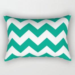 Emerald Chevron Rectangular Pillow