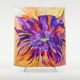 Abstract ochird Shower Curtain