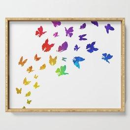 Rainbow Butterflies Serving Tray