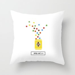 color chocolate ad Throw Pillow