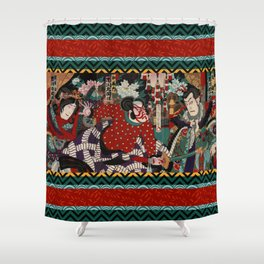 Kabuki Samurai Warriors Shower Curtain