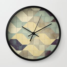 São Paulo Tile Pattern Wall Clock