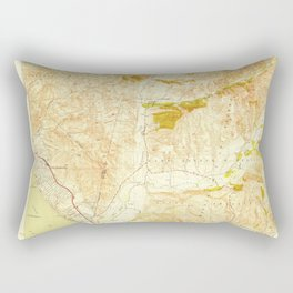 San Clemente, CA from 1949 Vintage Map - High Quality Rectangular Pillow