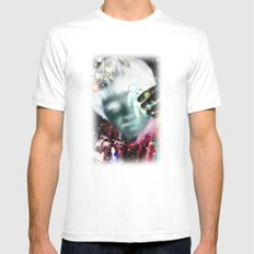 star man White Mens Fitted Tee MEDIUM