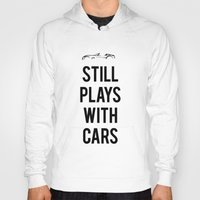 audi Hoodies featuring Still plays with cars by Barbo's Art