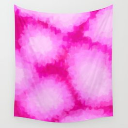 Glowing Pink Floral Abstract Wall Tapestry