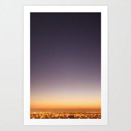 dusk colors Art Print
