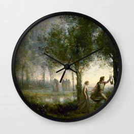 "Jean-Baptiste-Camille Corot ""Orpheus Leading Eurydice from the Underworld"" Wall Clock"