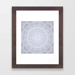 Mandala Soft Gray Framed Art Print