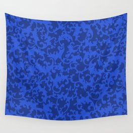 Sapphire Ornamentation Wall Tapestry